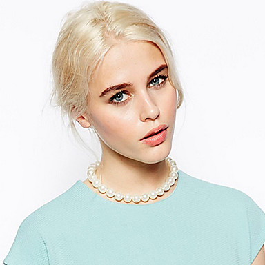 shixin® clasic alb perlat frumos strand colier (1 buc)