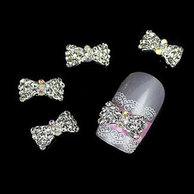 10шт 3d аксессуары горный хрусталь сплава галстук-бабочка для кончиков пальцев украшения искусства ногтя