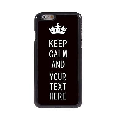 caz negru personalizat păstra caz de metal de design calm pentru iPhone 6 plus