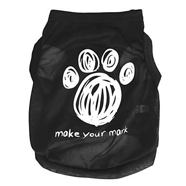Pisici Câine Tricou Îmbrăcăminte Câini Desene Animate Negru Costume Pentru animale de companie