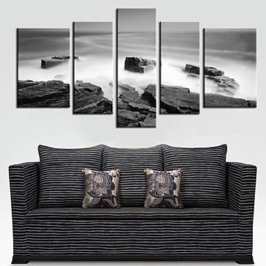 Set di tele Paesaggi Cinque Pannelli Orizzontale Stampa Decorazioni da parete Decorazioni per la casa