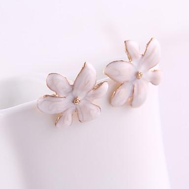 Cercei Stud Cristal Email Aliaj Flower Shape Bijuterii Pentru Zilnic