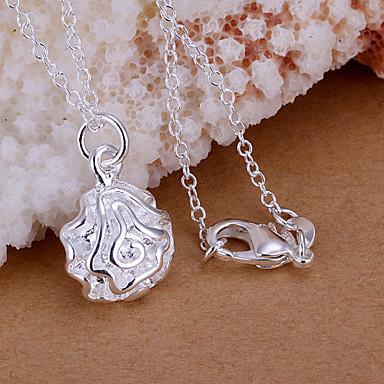 vilin femei argint trandafir pandantiv elegant stil clasic feminin