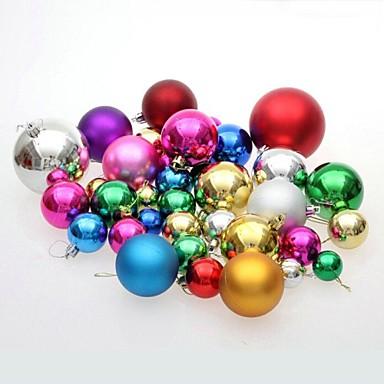 Christmas Decorations Ornamente de Brad de Crăciun Jucarii Minge Drăguț Încântător Plastic 36 Bucăți