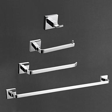 Bad Zubehör-Set Gute Qualität Moderne Messing 4pcs - Hotelbad Turm Bar Kleiderhaken Toilettenpapierhalter