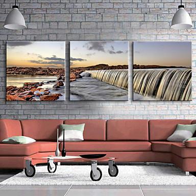 Stampe a tela Set di tele Paesaggi Tre Pannelli Orizzontale Stampa Decorazioni da parete Decorazioni per la casa