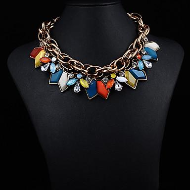 piatră prețioasă de bijuterii JQ femei scurt colier