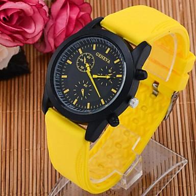Bărbați Quartz Ceas Sport Ceas Casual Silicon Bandă Cool Negru Alb Albastru Orange Pink Yellow
