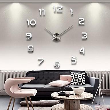 "povoljno Zidni satovi-39 ""w diy 3d broj zrcala akril naljepnica zidni sat"