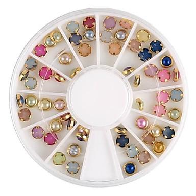 красочные жемчуг металл Lipping ногтей украшения