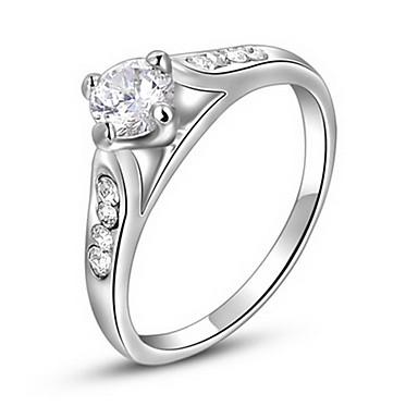 billige Motering-Dame Statement Ring Krystall Sølv Zirkonium Fuskediamant Østerrisk krystall Fire tenger Luksus Europeisk Fest Daglig Smykker / Legering