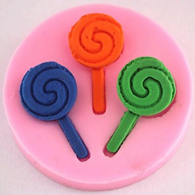 lollipop tort fondant instrumente de decor din silicon de ciocolată mucegai tort, l4.9cm * w4.9cm * h0.8cm