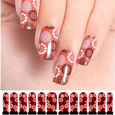 12 Стикер искусства ногтя Наклейка для переноса воды Абстракция макияж Косметические Ногтевой дизайн