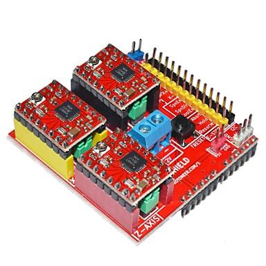 v2 3D-Drucker-Treiber-Erweiterungsplatine für Arduino - red