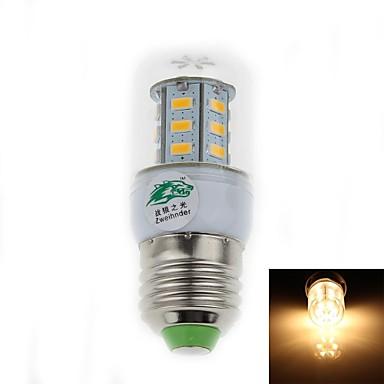 500 lm E26/E27 LED лампы типа Корн T 24 светодиоды SMD 3528 Декоративная Тёплый белый AC 85-265V