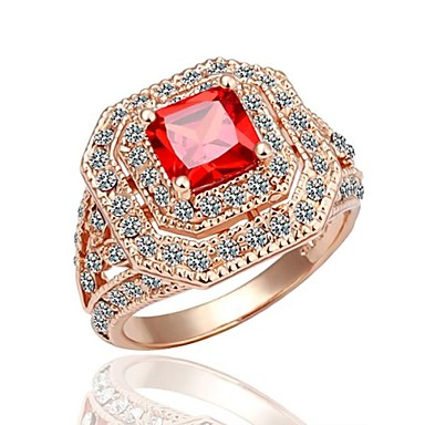 jmj® placare cu aur inel de nunta elegant stil clasic feminin