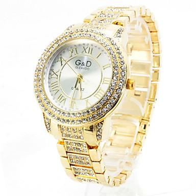 Pentru femei Ceas Elegant  Ceas La Modă Quartz imitație de diamant Aliaj Bandă Lux Sclipici Auriu Roz auriu