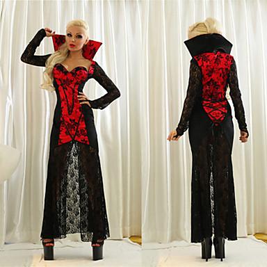 Cosplay Kostuums Vampieren Festival/Feestdagen Halloweenkostuums Patchwork Kleding Halloween Vrouwelijk