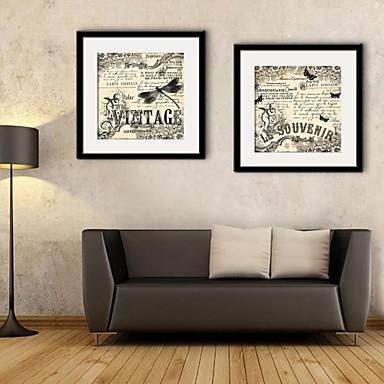 Abstract Pânză Înrămată / Set Înrămat Wall Art,PVC Negru Rogojină Inclusă cu Frame Wall Art