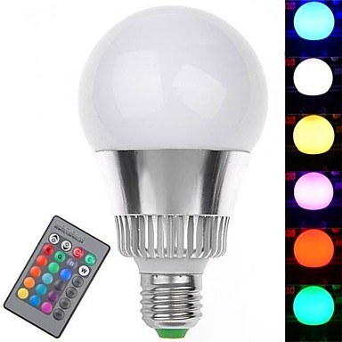 7W E26/E27 Bulb LED Glob 1 LED Putere Mare 350-400 lm RGB Telecomandă AC 85-265 V