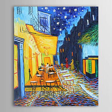 Dipinto A Mano Dipinto Ad Olio Ritratto Di Paesaggio Il Caffè Terrazza-vincent Van Gogh Tele Tele #00448169