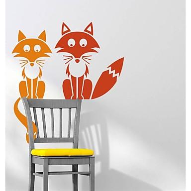 Животные Мультипликация абстракция фантазия Наклейки Простые наклейки Декоративные наклейки на стены материал Влажная чистка Съемная