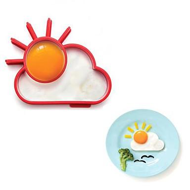nieuwigheid sunnyside zonwolk ei ring siliconen bakken ei omelet cirkel 13.8 x 11 x 2.4 cm
