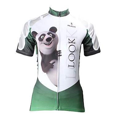 ILPALADINO Jerseu Cycling Pentru femei Manșon scurt Bicicletă Jerseu Topuri Îmbrăcăminte Ciclism Uscare rapidă Rezistent la Ultraviolete