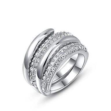Dame Inele Afirmatoare Personalizat costum de bijuterii Cristal Placat Auriu Bijuterii Pentru Nuntă Petrecere Zilnic Casual
