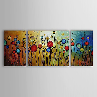 Ručně malované Abstraktní Horizontální panoramatické, Moderní Plátno Hang-malované olejomalba Home dekorace Tři panely