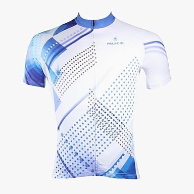 ILPALADINO Wielrenshirt Heren Korte mouw Fietsen Shirt Kleding Bovenlichaam Wielrenkleding Sneldrogend Ultra-Violetbestendig Ademend