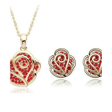 vrouwen elegante diamanten sieraden sets