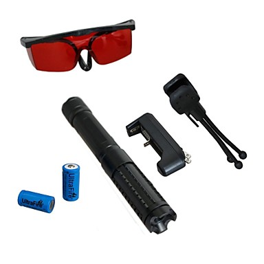 -lt 0887 ochi proteja laser pointer verde (1mW, 532nm, 2x16340, culori asortate)