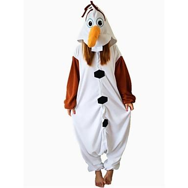 Pijama Kigurumi Om de Zăpadă Pijama Întreagă Costume Lână polară Maro Cosplay Pentru Adulți Sleepwear Pentru Animale Desen animat