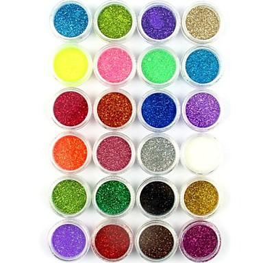 24 pcs Glitter & Poudre / Akrylpulver / Pudder Abstrakt / Klassisk / Bryllup Smuk Daglig