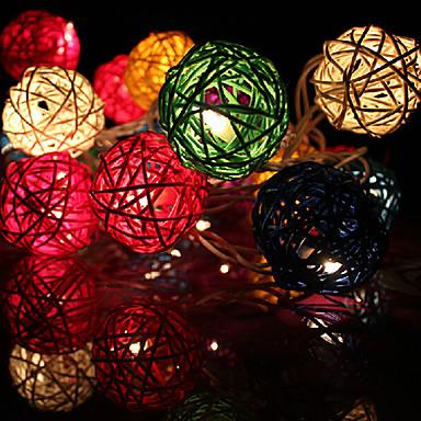 20led 2.5m dekorative Rattanschnur beleuchtet (ac220v), gelegentliche Farbe