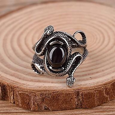 voordelige Herensieraden-Heren Statement Ring Ring Synthetische Edelstenen Titanium Staal Legering Statement Vintage Informeel Sieraden Slang