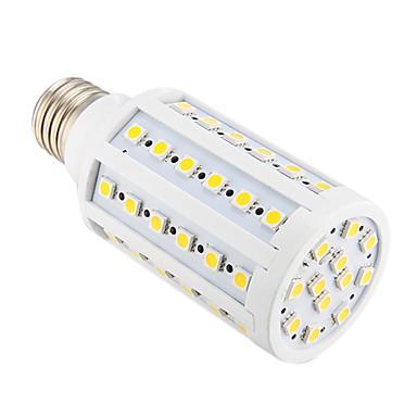 800 lm E26/E27 LED-maïslampen T 60 leds SMD 5050 Warm wit AC 220-240V