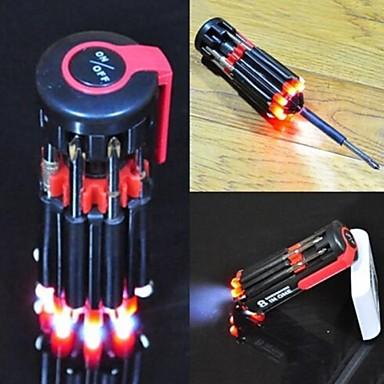 8 in 1 multifunctionele screwsriver set met led