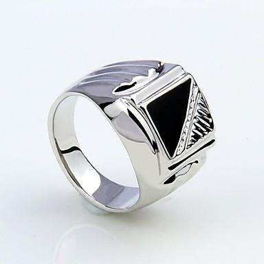 Heren Gesimuleerde diamant Statement Ring - Modieus Zilver Ring Voor Kerstcadeaus Feest Dagelijks Causaal