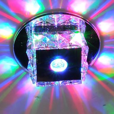 LightMyself™ Монтаж заподлицо Рассеянное освещение - Хрусталь Мини LED, 90-240 Вольт, Теплый белый Холодный белый RGB, Светодиодный