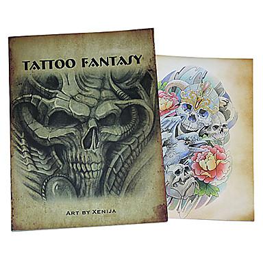 Schädel-Muster für Tattoo Buch