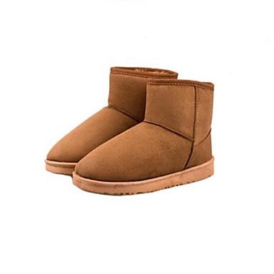 Жен. Обувь Дерматин Зима Осень На низком каблуке Около 10 - 15 см Ботинки для Повседневные Цвет загара Вино Черный Коричневый Синий