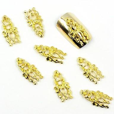 100 buc 3d bijuterii de unghii de aur totem minunat pentru fals matrite acrilice de unghii decoratiuni de arta