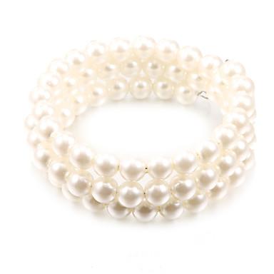 abordables Bracelet-Bracelet à Perles Femme Perle Pas cher unique Mode Bracelet Bijoux Blanc pour Soirée Quotidien Décontracté