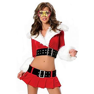 9935c43c kvinners jule kostyme skolejenter topper kort skjørt søt sett ...