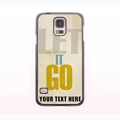 cazul în care telefonul personalizate - lăsați-l să meargă carcasa de metal de design pentru Samsung Galaxy mini s5