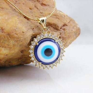 Pentru femei Pandative - Placat Auriu, Diamante Artificiale Deochi Modă Pandantiv Auriu Pentru Zilnic
