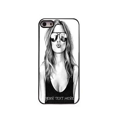 cazul în care telefonul personalizate - frumoasa carcasa de metal de design fata de iPhone 5 / 5s