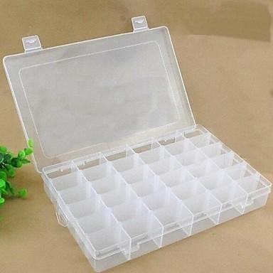 Plastic Dreptunghi Cu Capac Acasă Organizare, 1 buc Cutii stocare